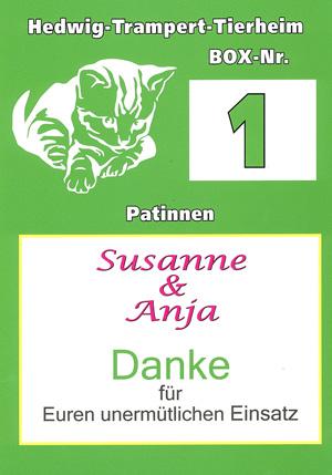 Vielen Dank Susanne und Anja